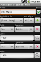 Screenshot of PlayList Builder