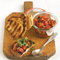 Grilled Tomato Bruschetta