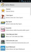 Screenshot of Calcio News