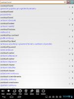 Screenshot of Velký anglický slovník PCT+