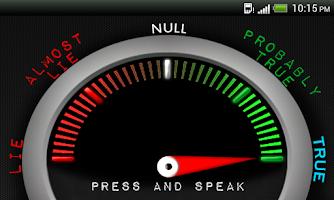 Screenshot of Lie detector - Test it