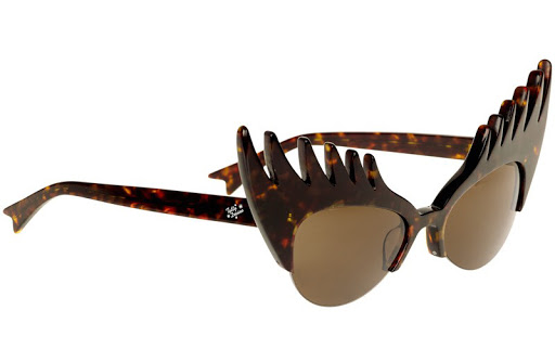 Eyelash Sunglasses - Tortoiseshell; Tatty Devine