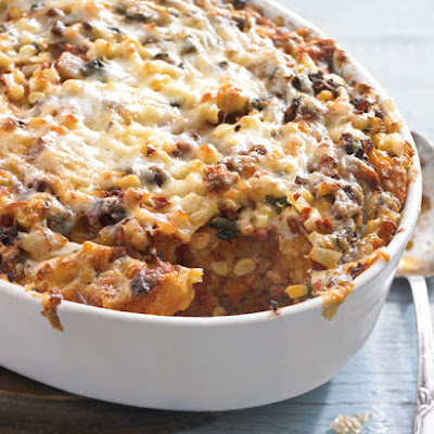 Corn and Chile Strata with Mexican Chorizo