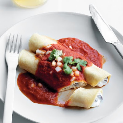Bean and Cheese Enchiladas