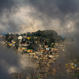Darjeeling by Gurung Purna - City,  Street & Park  Skylines ( clouds, darjeeling )