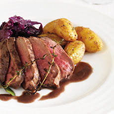 Pan-roasted Venison Loins With Braised, Red Cabbage