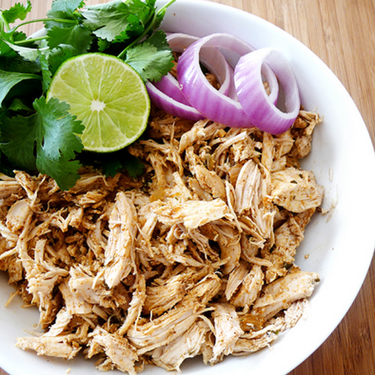 Shredded Tex-Mex Crock-Pot Chicken Recipe | Yummly