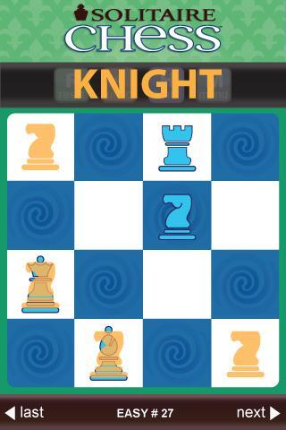 Solitaire Chess by ThinkFun - screenshot