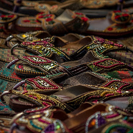 Jooti by Amit Sarda - Abstract Patterns ( abstract, delhi haat, indian shoes, footwear, india )