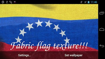 Screenshot of 3D Venezuela Flag LWP +