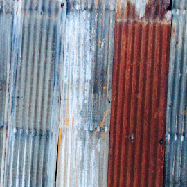 by Deborah Arin - Abstract Macro ( abstract, texture, tin, wall )