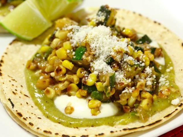 Charred Corn and Zucchini Tacos