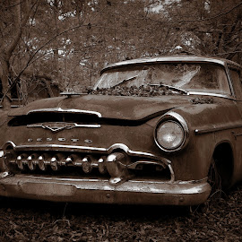 Wreck of the Desoto by Blaine Pratt - Transportation Automobiles