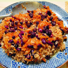 Bukharian Pilaf with Kidney Beans & Carrots