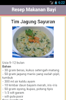 Screenshot of Resep Makanan Bayi