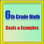 6th Grade Math, Goals&Examples icon