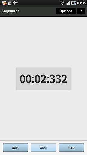 Simple stopwatch + Widget