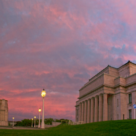 The colors of dusk over Auckland Museum by Anupam Hatui - Buildings & Architecture Public & Historical ( sunset, architecture, dusk, photography )