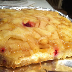 Ginger cran apple upside down cake