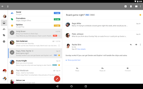 Gmail – Miniaturansicht des Screenshots