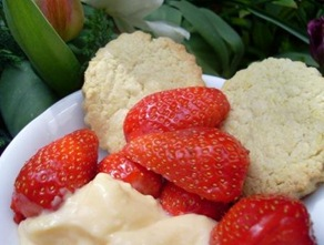 fraises biscuits
