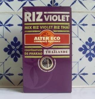 paquet riz violet