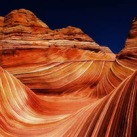 Wave Time by Craig Bill - Nature Up Close Rock & Stone ( coyote buttes, desert, the wave, arizona, ytah, vermillion )