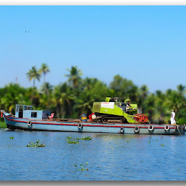 Kerala by Francesca Riggio - Transportation Boats ( water, sky, india, boat, river )