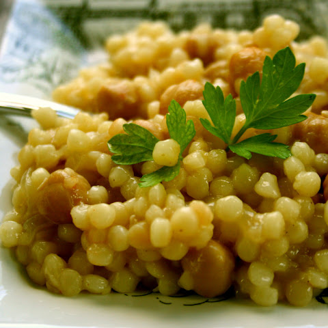 Israeli Couscous Chickpea Risotto
