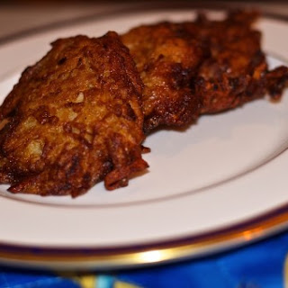 Crispy Fried Shredded Potato Latkes