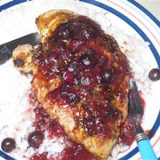 Rosemary Chicken with Blueberry Sauce