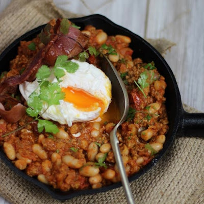Spiced Chorizo and Beans