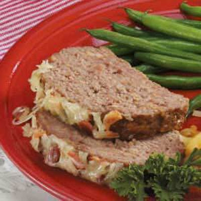 Bacon Swiss Meat Loaf