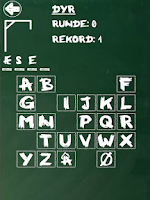 Screenshot of Hangman (Danish)
