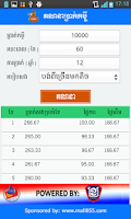 Screenshot of Loan Calculation