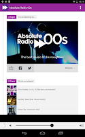 Screenshot of Absolute Radio 00s