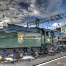 BR 70000 Britannia at Carlisle by David Garnett - Transportation Trains ( carlisle, railtour, br 70000, carlisle citadel, britannia, carlisle citadel station, br, british rail )