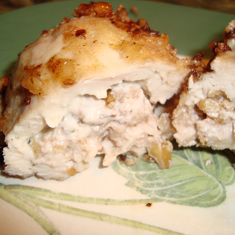 Chicken Kiev with Walnuts in a Sage Butter Sauce