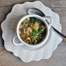 Lentil and Turnip Soup with Pounded Walnuts