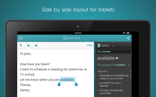 ginger-page-grammar-keyboard for android screenshot