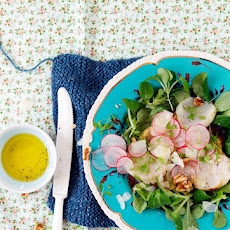 Mâche Salad with Potato Galettes & Scallops