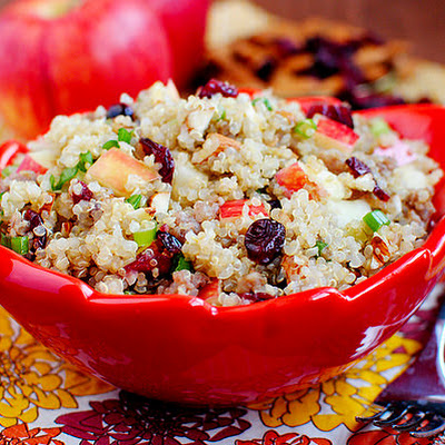 Apple Almond Quinoa with Maple Sausage