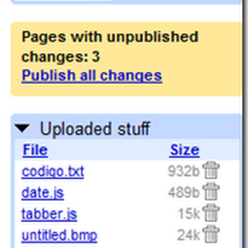Hospedando arquivos no Google Page Creator