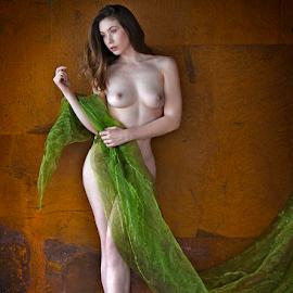 Elle Beth by Marie Otero - Nudes & Boudoir Artistic Nude ( model, nude, female, green, fine art, artistic )