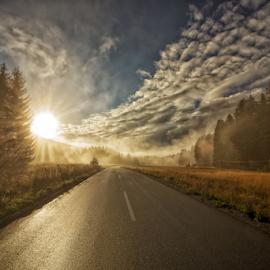 Mountain road of gold by Stanislav Horacek - Landscapes Sunsets & Sunrises