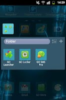 Screenshot of GO Launcher Themes Neon Blue