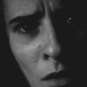 Self Portrait by Denise Lombardi - Black & White Portraits & People (  )