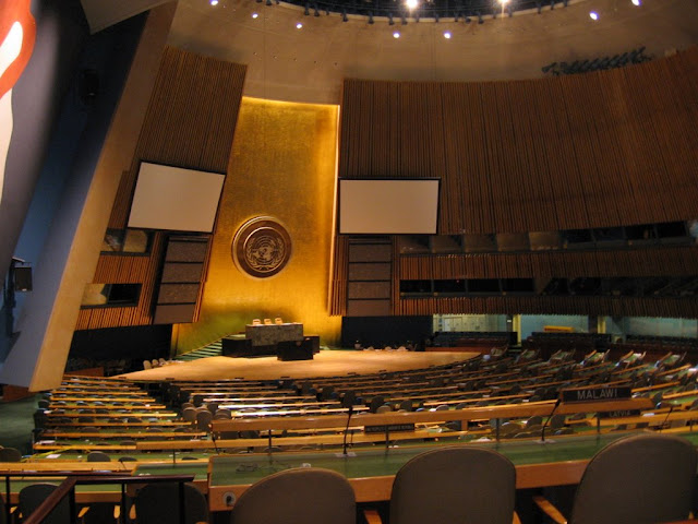 Salle de lassemblée générale de lONU