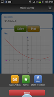 Screenshot of Math Solver