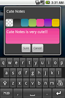 Screenshot of Cute Notes